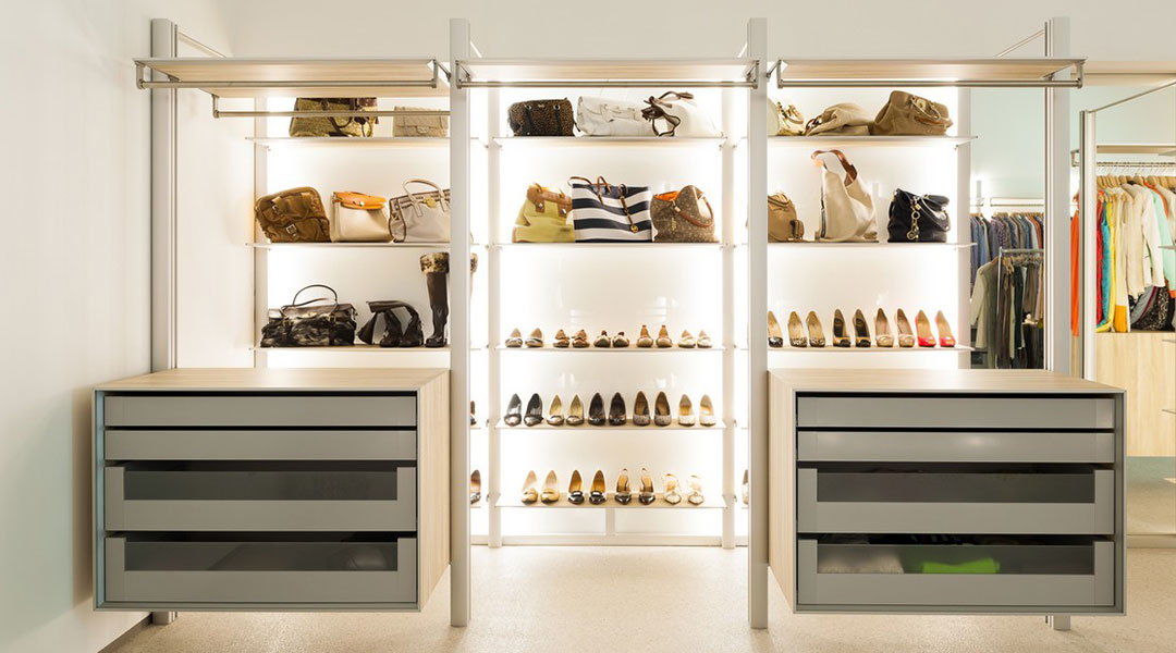 Walk-in Concept Shoe Cabinet Design