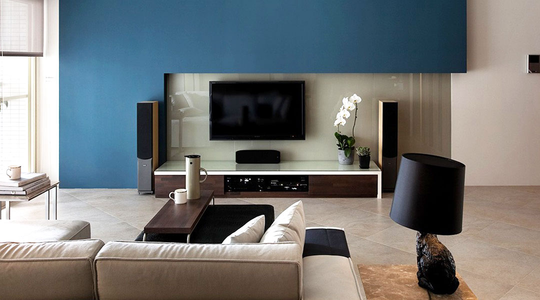 Contemporary Melamine TV Wall Cabinet