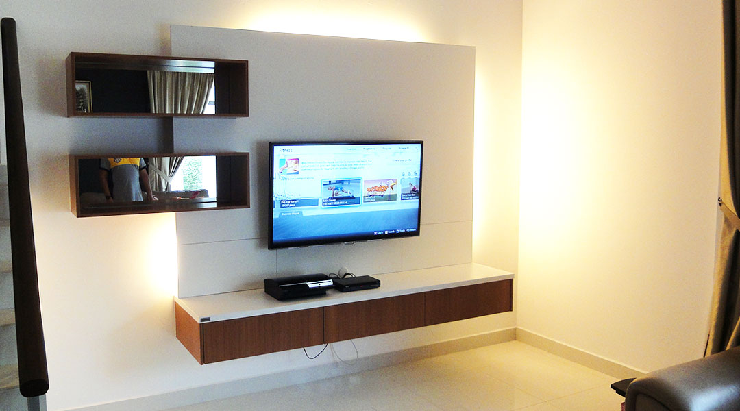 Melamine TV Wall Cabinet