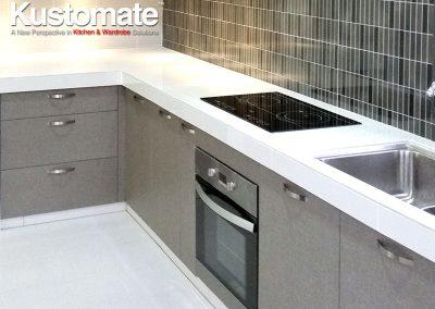 Concrete Kitchen Countertops With Melamine Cabinets - Concrete Countertops
