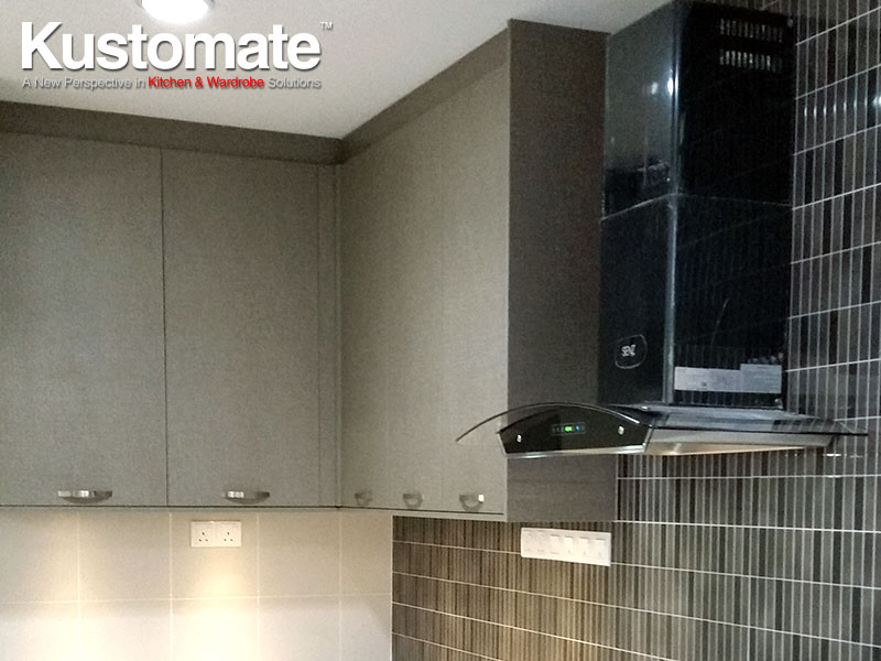Concrete Kitchen Countertops With Melamine Cabinets
