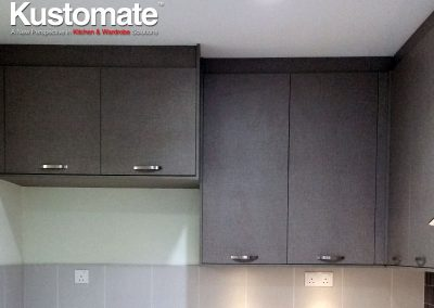 Concrete Kitchen Countertops With Melamine Cabinets - Wall Cabinets