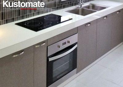 Concrete Kitchen Countertops With Melamine Cabinets - Kitchen Sink