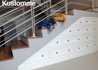 Drawer Type Classic Under Stair Cabinet
