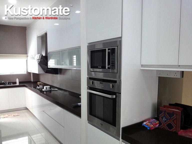 White Cabinets Design, Build & Installation For Semi-D House