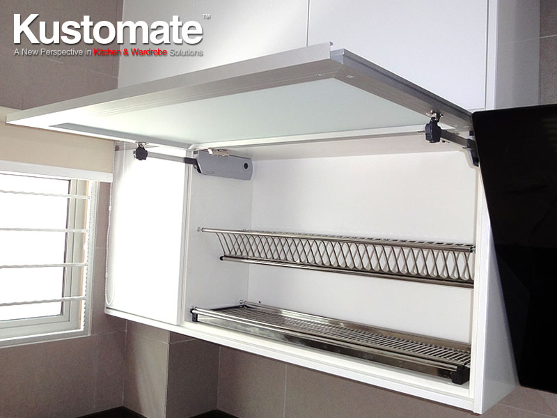 Matt Glass Open Top Kitchen Cabinet With Soft Close System ...
