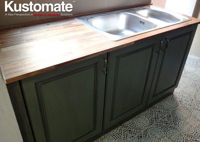 Classic Solid Wood Swing Doors For Kitchen Sink Cabinet