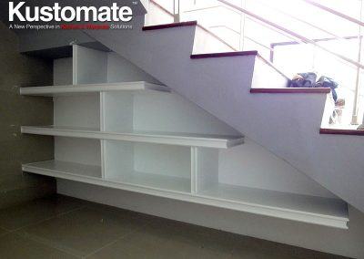 Drawer Type Classic Under Stair Display Rack