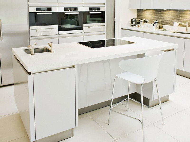 kitchen cabinet solid surface solid surface white island kitchen design ideas 19598