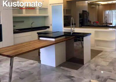 Custom Shape Island Kitchen Cabinetry Design 01