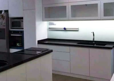 Custom Shape Island Kitchen Cabinetry Design 04