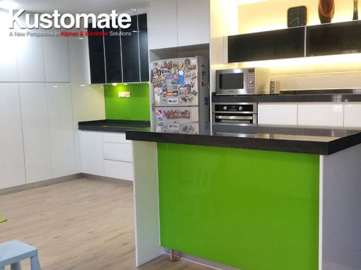 Contemporary Minimalist Gloss Kitchen Cabinet Design & Build For Residential House