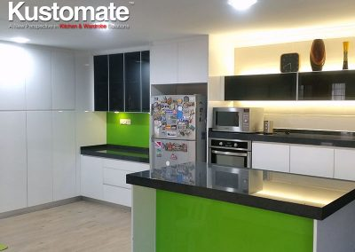 Contemporary Minimalist Gloss Kitchen Cabinet Design & Build For Residential House 02