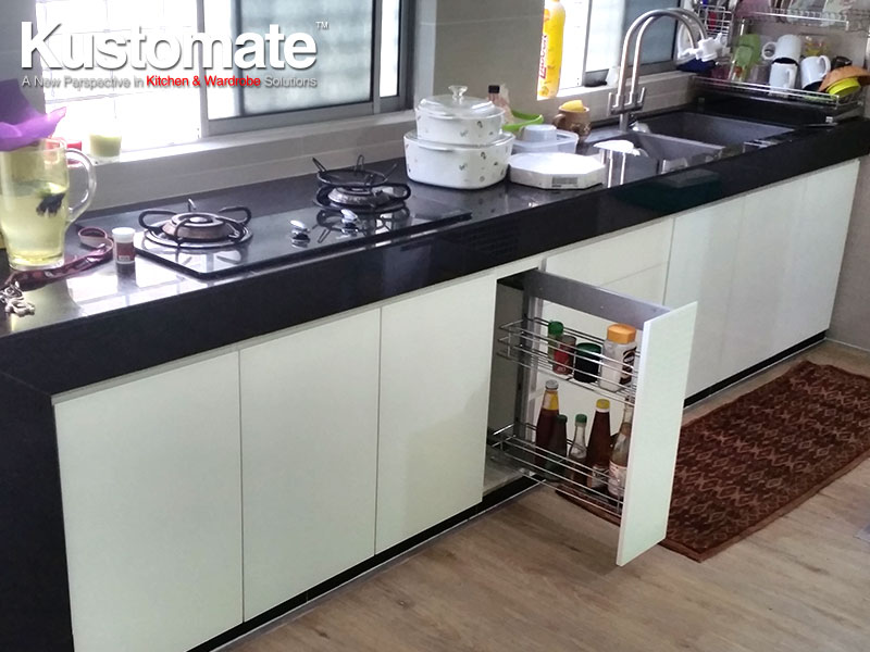 Contemporary Minimalist Gloss Kitchen Cabinet Design & Build