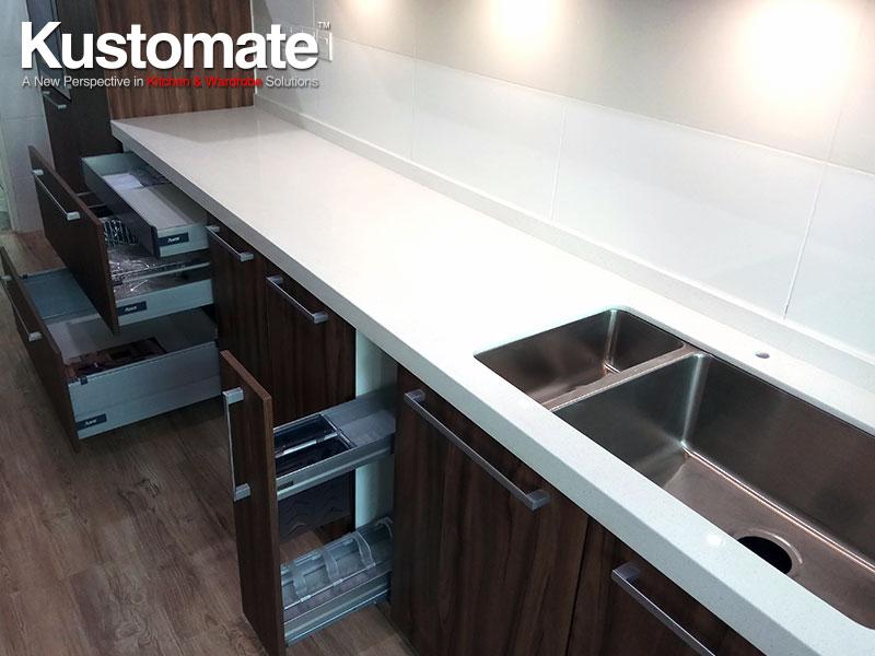 Contemporary Kitchen Cabinet Design & Build For Kuala Lumpur Apartment